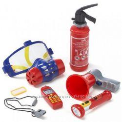 Детский набор пожарника средний с маской - противогазом Klein 8950