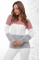 Джемпер,  свитер трехцветный 155