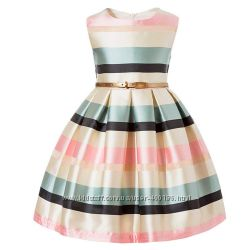 Жаклин размер 92-150 красивое нарядное пышное платье для девочки атлас