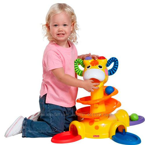 Веселый жираф Fisher-Price игровая стойка