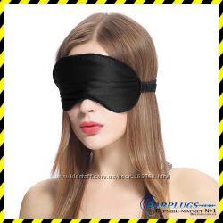 Шелковая маска для сна Silenta Silk маска из шелка, чёрный цвет. Подарок