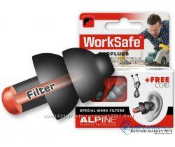 Беруши Alpine WorkSafe для работ с высоким уровнем шума.
