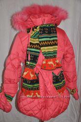Зимняя курточка для девочки Распродажа последний размер 134см