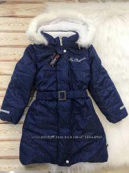 Зимняя детская удлиненная куртка пальто на флисе, Польша, р. 116, 128, 134