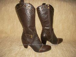 Кожаные ковбойские сапоги на стопу 26, 5 см.