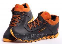 Кроссовки кожаные зимние КолTrack Black-Brown Mk II