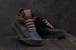 Зимние мужские ботинки Ecco black 117W-M1