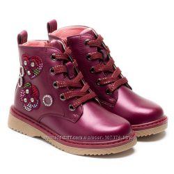Демисезонные ботинки для девочки, размер 26-31