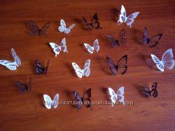Красивые бабочки из пластика для декора на стену