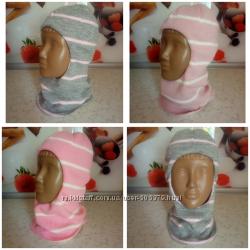 Шлемики шлемы теплые на флисе зимние на девочку