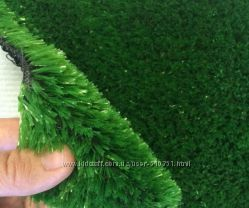 Ковролин трава искусственная зеленая для улицы в рулонах на отрез хит
