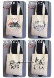 Еко-торба сумка під вишивку бісером, нитками, рубкою