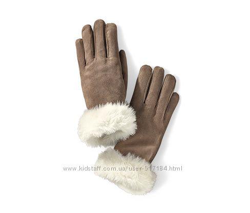 Перчатки под замшу тёплые ТСМ Tchibo, размер 7