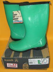 40р. 40. 5 Нові гумові чоботи Kamik Heidi Waterproof. Оригінал. Канада. US
