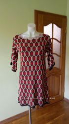 Итальянское платье-туника. Теплое. Декор люрекс. Для модниц.