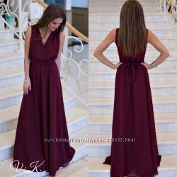 Шифоновое платье в пол декольте на запах, 430 грн. Женские платья ... 2938a0b4597