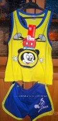 Комлект легкий летний майка и шорты Микки Маус 4-6 лет