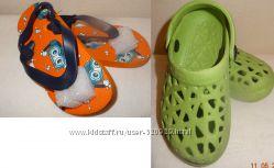 Летняя обувь вьетнамки и кроксы стелька 15 см 2 пары