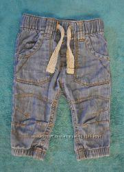 Фирменные штанишки джинсы для мальчика или девочки 3-6 мес.