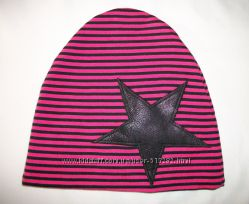 Молодёжная оригинальная шапка двойной трикотаж