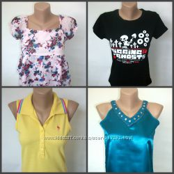 Майка, туника, топ, футболка на девочку 10-12л. 146-152см