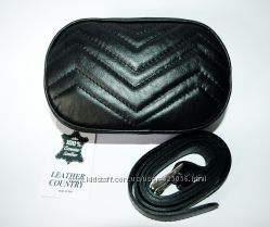 Элегантная сумочка на пояс Leather Country , Италия, натуральная кожа