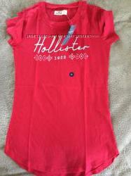 Хлопковая футболка Hollister XS оригинал