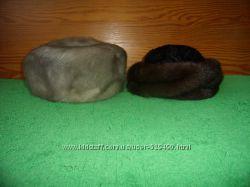 Серая и коричневая норковые шапки