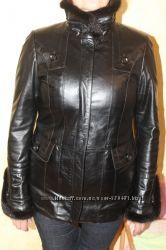 Женская кожаная курточка утепленная
