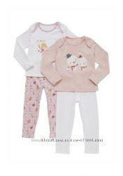 Пижамы для девочек F&F Англия цена за комплект