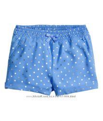 Шортики для девочек H&M Англия цвета, размеры от 1, 5 до 8 лет