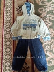 Велюровый спортивный костюм рост 98