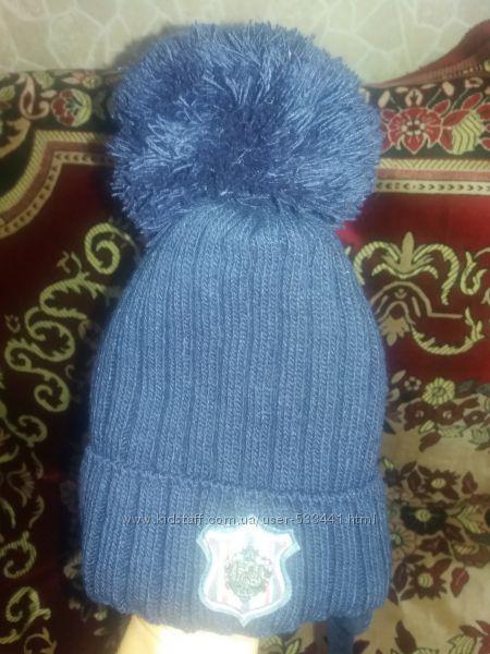 Зимняя очень красивая шапочка barbaras  на мальчика 46-48размера