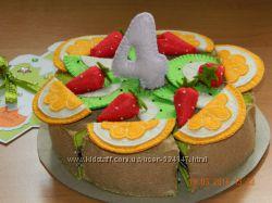 Фетровый тортик