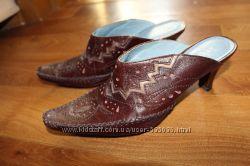 Необычные кожаные сабо, колодки, султанки Indigo by Clarks, США