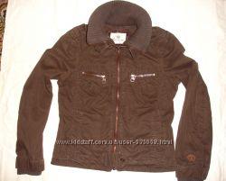куртка ветровка размер М 44-46 темно коричневая демисезон облегченная