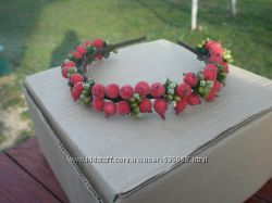 Обруч веночек Красная ягодка