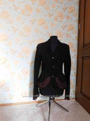 Куртка осень. весна, размер м, замша, коричневый