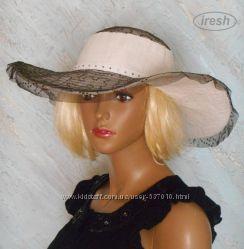 Широкополая летняя шляпа. Ручная работа.