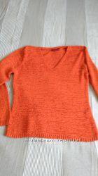 оранжевый пуловер, весна-лето, xl