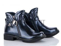 Качественные демисезонные ботинки - сапожки тм BABY SKY для девочки 33-38 р