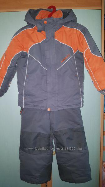 Зимний костюм куртка полукомбез GUSTI р. 110-116, 5ле lenne reima