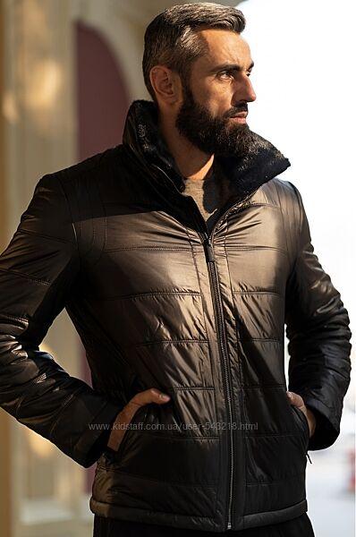 Куртка на верблюжьей шерсти мужская Freever WF 2117 черная
