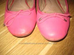 Кожаные туфли-балетки 36 размер.