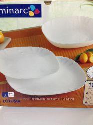 Сервиз LUMINARC LOTUSIA white 18предметов.