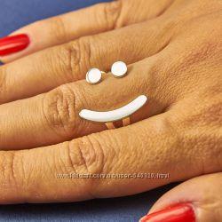 Серебряное кольцо Смайлик