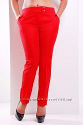 Летние женские брюки больших размеров ХЛ, ХХЛ
