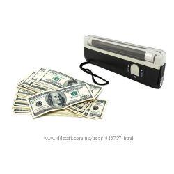 Детектор валют ультрафиолет. для проверки денег  фонарик. Акция.