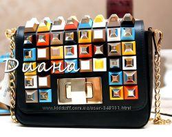 Кожаная сумка реплика Fendi