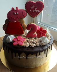 Торт с пряничными топперами